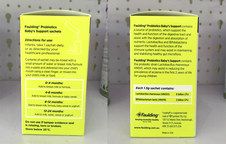 Men vi sinh cho bé từ 1 tuổi 50gr - Faulding® Probiotics 4 Kids