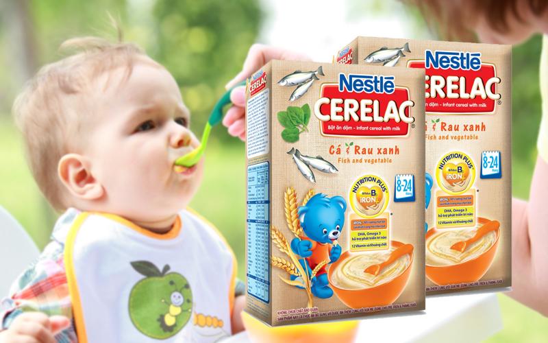 Bột ăn dặm Nestle Cerelac cá và rau xanh 200g