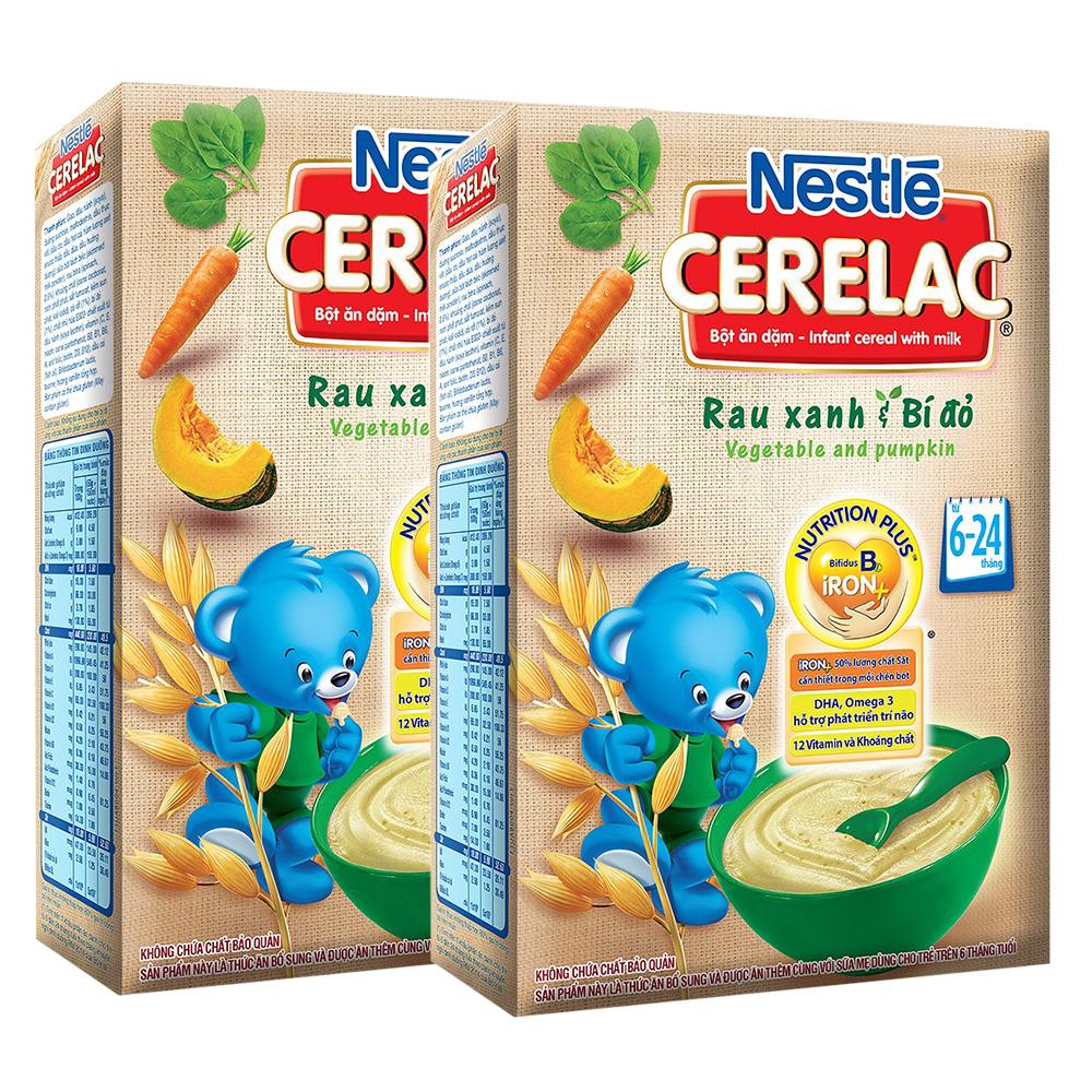 Bột ăn dặm Nestle Cerelac rau xanh và bí đỏ 200g