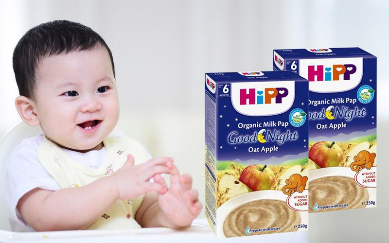 Bột dinh dưỡng Hipp chúc ngủ ngon Táo tây sữa 250g