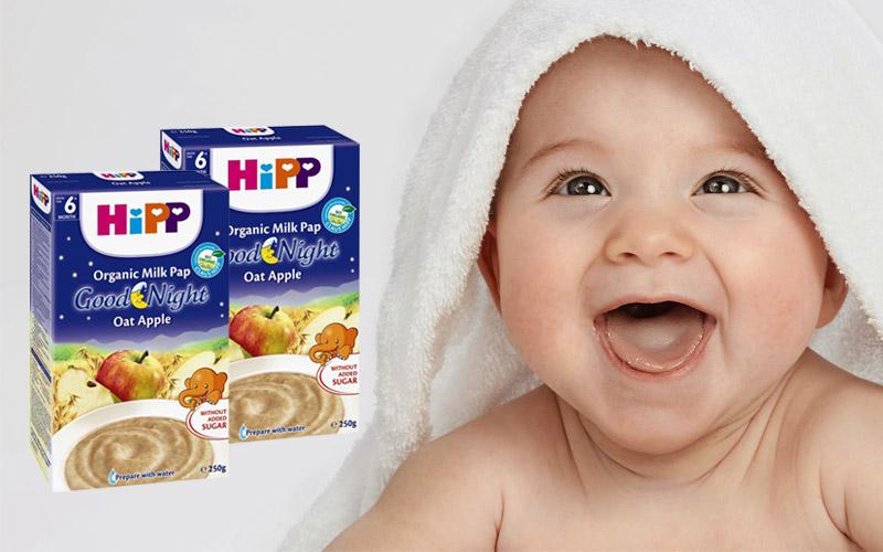 Bột dinh dưỡng Hipp chúc ngủ ngon Táo tây sữa