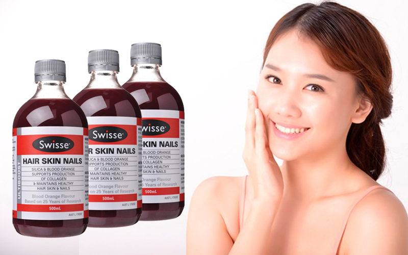 Collagen dạng nước - Swisse Ultiboost Hair Skin Nails 500ml
