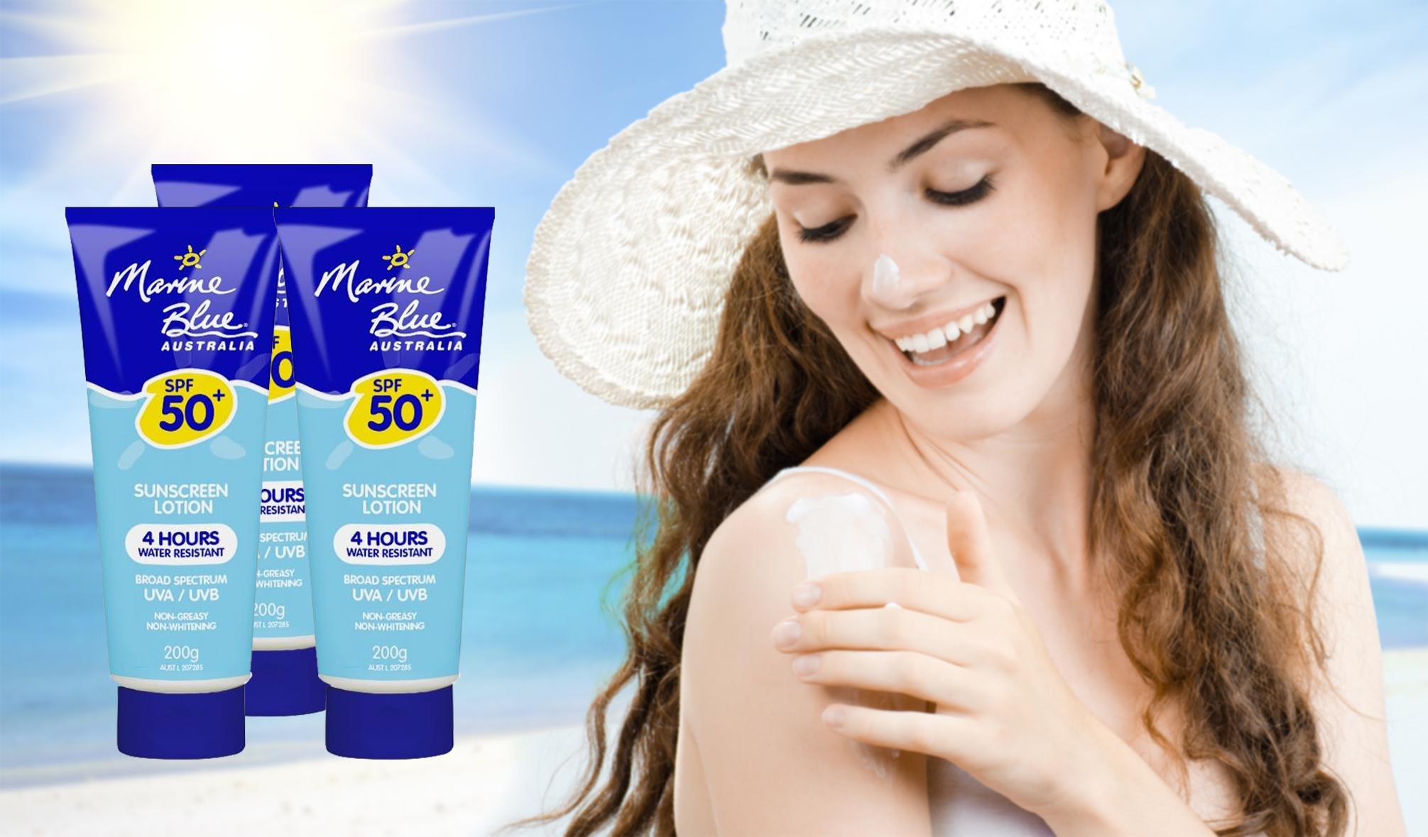 Kem chống nắng Marine Blue Australia