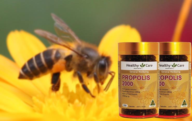 Keo ong Úc Healthy care 2000mg 200 viên