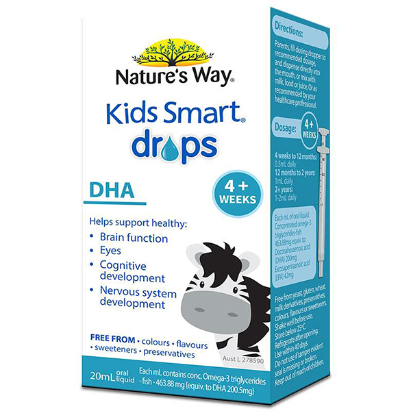 Bổ sung DHA dạng nhỏ giọt - Nature' Way Kids Smart DHA Drops 20ml