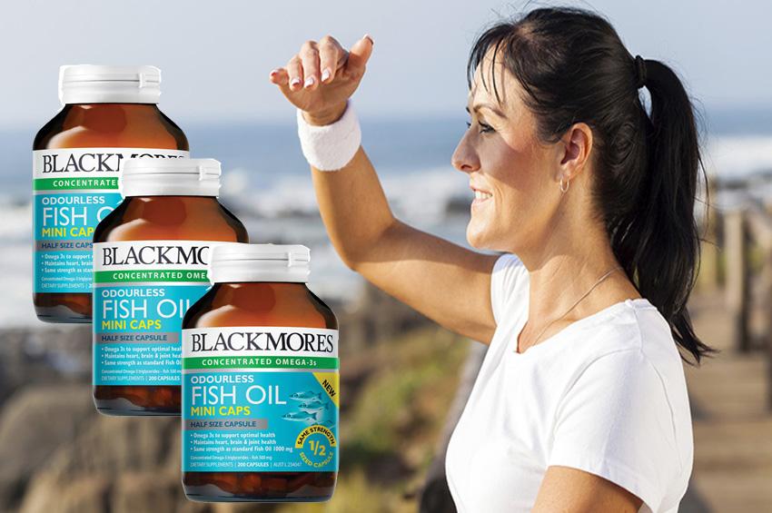 Dầu cá không mùi Blackmores Odourless Fish Oil 1000mg 200 viên Mini caps