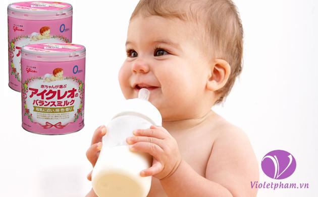 Sữa Icreo Glico Nhật Bản số 0 (800G) cho bé 0-9 tháng tuổi