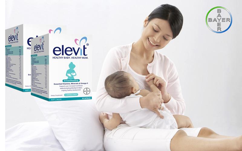 Viên uống Elevit cho mẹ sau sinh – Elevit Heathy Baby – Heathy Mum