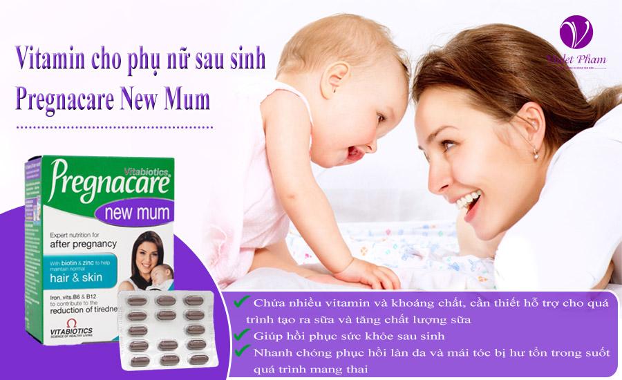 Viên uống cho phụ nữ sau sinh Pregnacare New Mum