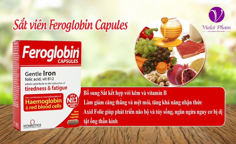 Bổ sung sắt dạng viên Feroglobin Capules