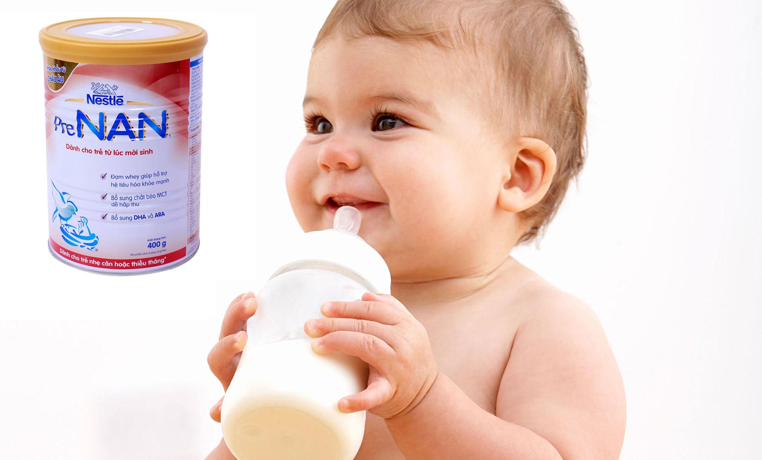 sữa nan dành cho trẻ thiếu tháng