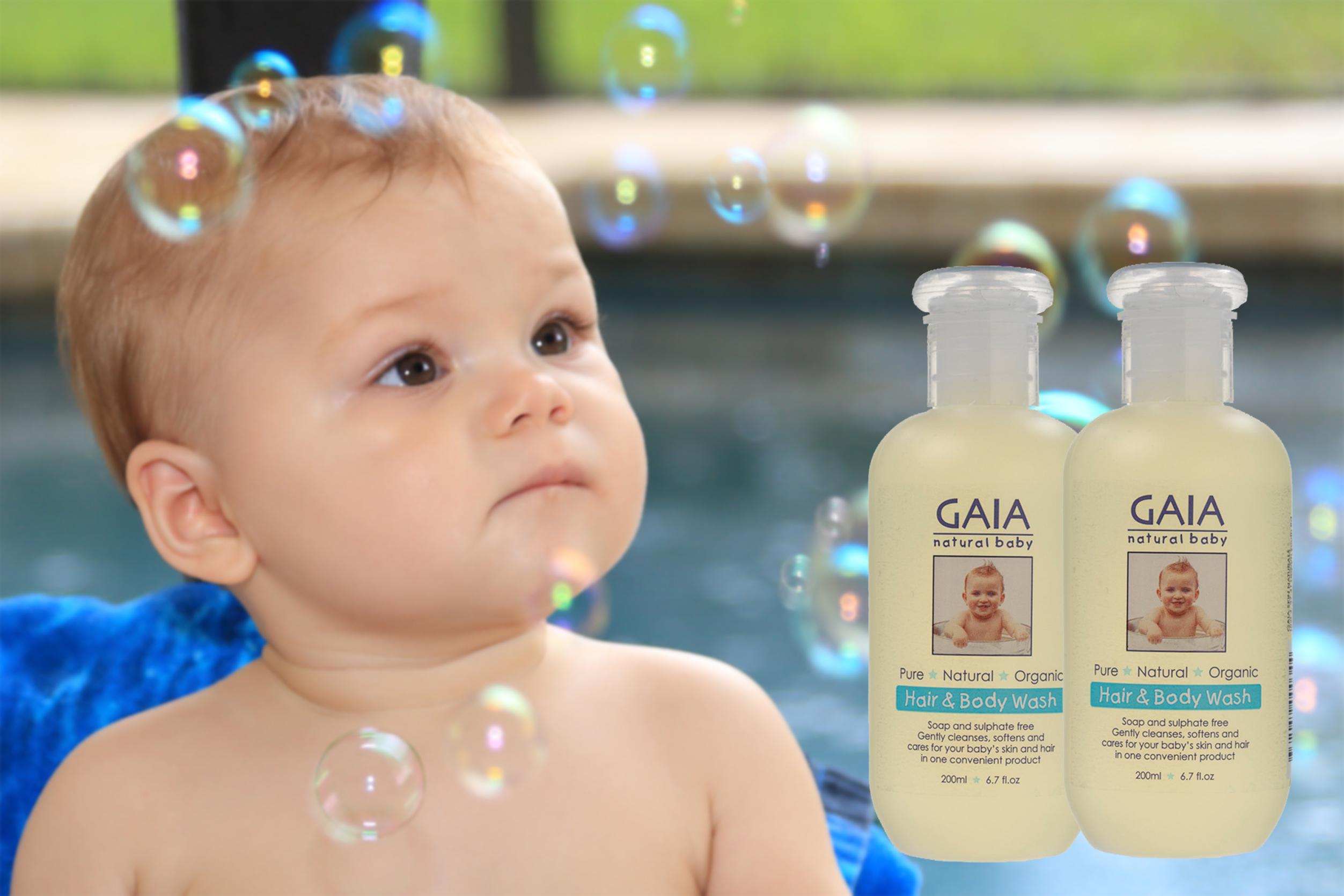 Tắm gội toàn thân hữu cơ GAIA Hair & Body Wash