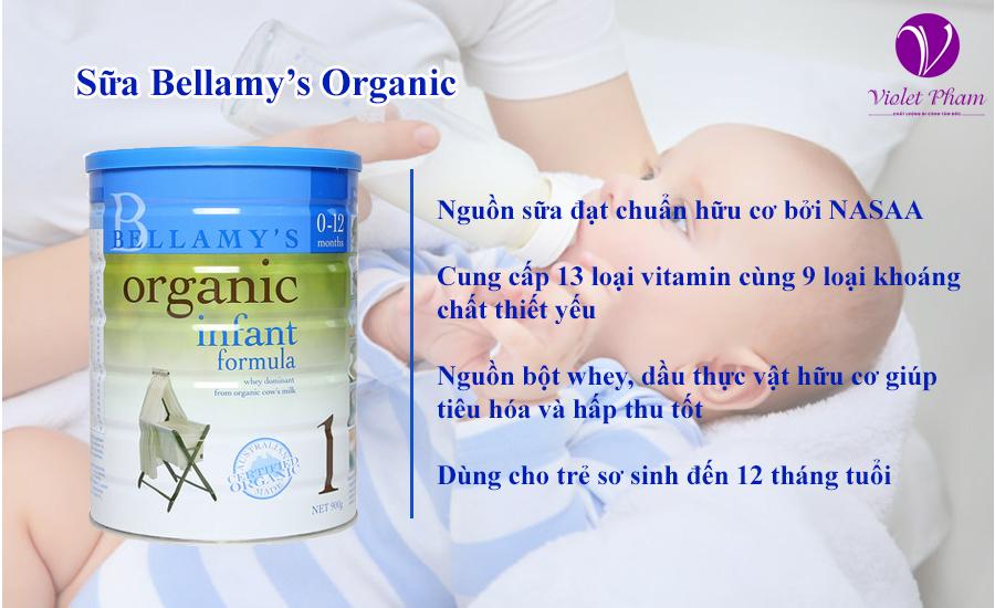 Sữa Bellamy's organic số 1