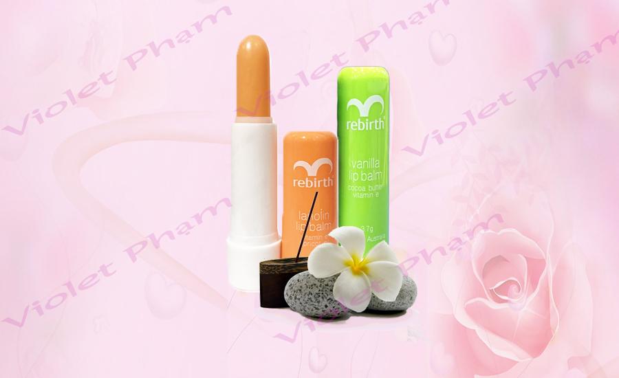 Son dưỡng môi chống nắng Rebirth Lip balm 3.7g