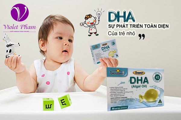 Bổ sung DHA cho trẻ - Blossom Super DHA-90 viên