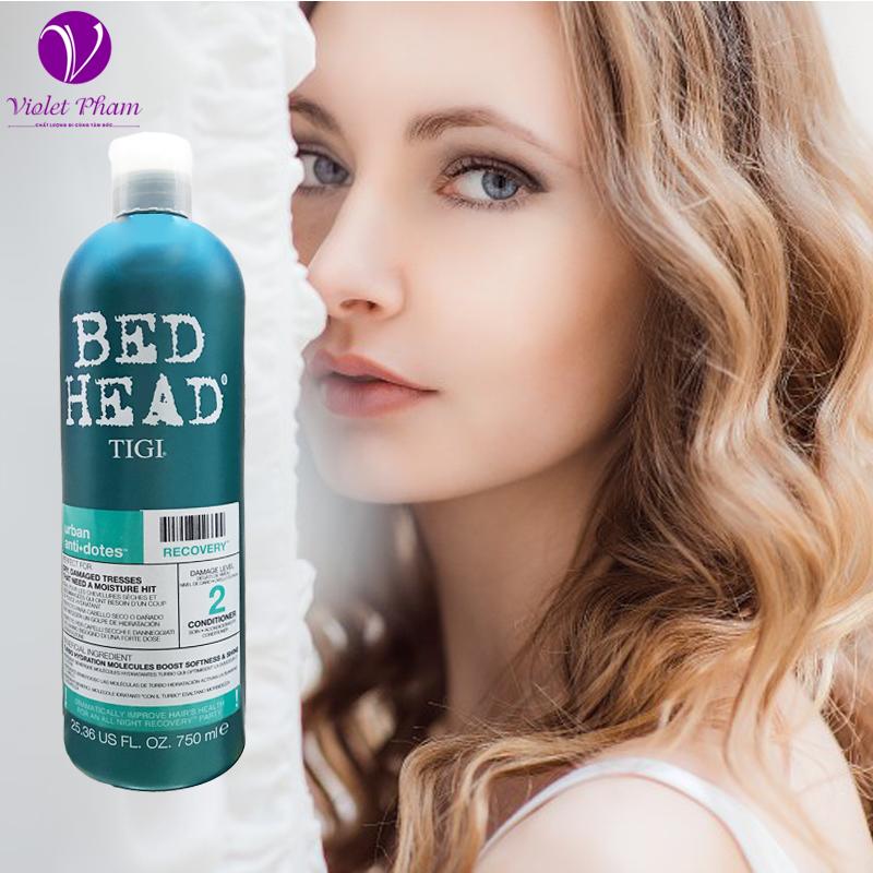 Dầu gội Bed Head Tigi xanh dương số 2  dành cho tóc khô, xơ, rối